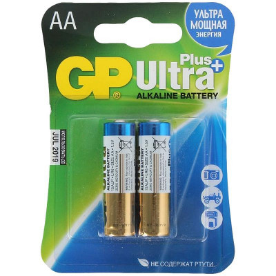 Батарейка GP Ultra Plus AA (LR06) 15AUP алкалиновая, BC2